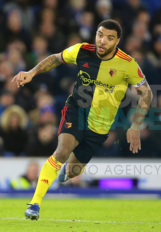 Watford's Troy Deeney during the Premier League match at the American Express Community Stadium, Brighton and Hove. Picture date: 8th February 2020. Picture credit should read: Paul Terry/Sportimage