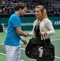 Rotterdam, The Netherlands. 16.02.2014. ABN AMRO World tennis Tournament<br /> Photo:Tennisimages/Henk Koster