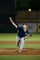 AZL Brewers relief pitcher Austin Rubick (33) delivers a pitch to the plate against the AZL Giants on August 15, 2017 at Scottsdale Stadium in Scottsdale, Arizona. AZL Giants defeated the AZL Brewers 4-3. (Zachary Lucy/Four Seam Images)