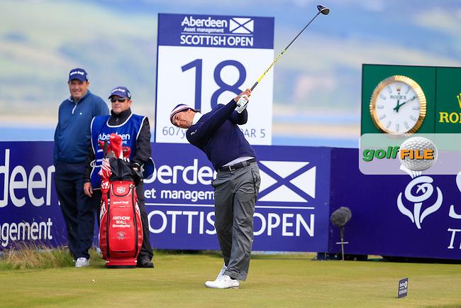 Matteo Manassero (ITA) during round 2 of the Aberdeen Asset Management Scottish Open 2016, Castle Stuart  Golf links, Inverness, Scotland. 08/07/2016.<br /> Picture Fran Caffrey / Golffile.ie<br /> <br /> All photo usage must carry mandatory copyright credit (&copy; Golffile | Fran Caffrey)