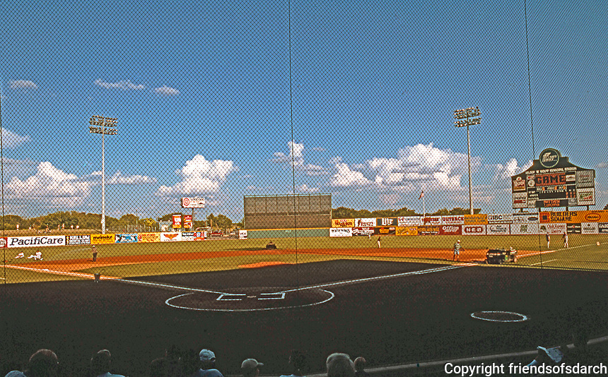 Ballparks: San Antonio Municipal Stadium. Panorama of Field.