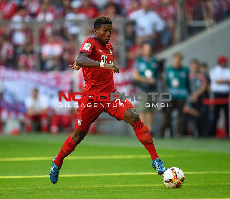 12.09.2015, Allianz Arena, M&uuml;nchen, GER, 1. FBL, FC Bayern M&uuml;nchen vs. FC Augsburg<br /> David Alaba (M&uuml;nchen)<br /> <br /> <br /> Foto &copy; nordphoto /  Bratic