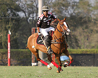 WELLINGTON, FL - FEBRUARY 05:  Lucas Criado #2 of Orchard Hill, controls the ball down the field, during one of the early matches of the Ylvisaker Cup at the International Polo Club Palm Beach on February 05, 2017 in Wellington, Florida. (Photo by Liz Lamont/Eclipse Sportswire/Getty Images)