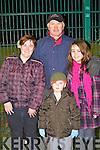 FANS: Enjoying the game at Celtic Park, Killarney on Tuesday l-r: Caroline O'Mahony, Joe and Katie Gaffey and Jack O'Mahony.
