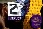 November 1, 2019: Structor, ridden by Jose Ortiz, wins the Breeders' Cup Juvenile Turf on Breeders' Cup World Championship Friday at Santa Anita Park on November 1, 2019: in Arcadia, California. Carolyn Simancik/Eclipse Sportswire/CSM