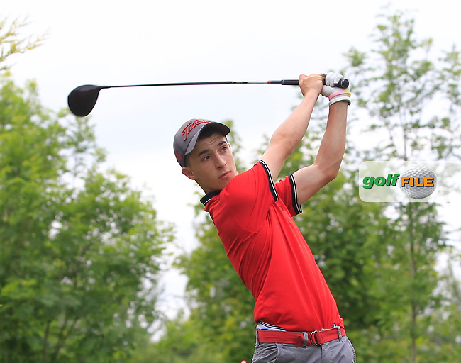 Sean Desmond (Monkstown) on the 1st tee during Round 2 of the Irish Boys Amateur Open Championship at Tuam Golf Club on Wednesday 24th June 2015.<br /> Picture:  Thos Caffrey / www.golffile.ie