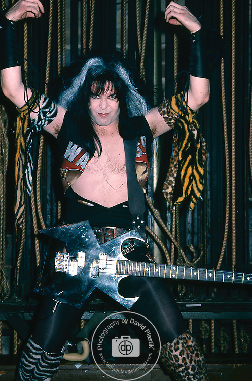 WASP -Blackie Lawless- performing live at the Tower Theater in Phila, Penn Jan 1985.