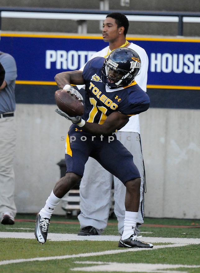 BERNARD REEDY, of the University of Toledo, in action during Toledo's game against the University of Arizona on September 3, 2010 in Toledo, Ohio...Arizona won the game 41-2..