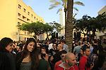 Israel, Tel Aviv-Yafo, street party on Rothschild boulevard