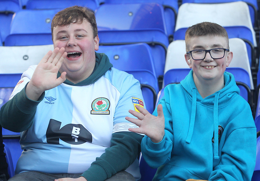 Blackburn Rovers Fans<br /> <br /> Photographer Mick Walker/CameraSport<br /> <br /> The EFL Sky Bet Championship - Birmingham City v Blackburn Rovers - Saturday 23rd February 2019 - St Andrew's - Birmingham<br /> <br /> World Copyright © 2019 CameraSport. All rights reserved. 43 Linden Ave. Countesthorpe. Leicester. England. LE8 5PG - Tel: +44 (0) 116 277 4147 - admin@camerasport.com - www.camerasport.com
