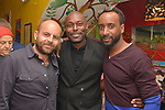 MIAMI, FL - MARCH 04: David Belle, Jimmy Jean-Louis and Jean H Marcelin attend the after party to the Miami Film Festival screening for 'Serenade for Haiti' at Tap Tap Restaurant on March 4, 2017 in Miami, Florida. ( Photo by Johnny Louis / jlnphotography.com )