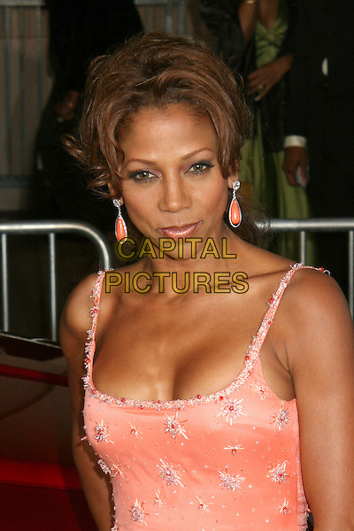 HOLLY ROBINSON PEETE.NAACP Image Awards, Los Angeles, California, USA..February 25th, 2006.Photo: Byron Purvis/AdMedia/Capital Pictures.Ref: BP/ADM.headshot portrait pink dangling earrings.www.capitalpictures.com.sales@capitalpictures.com.© Capital Pictures.