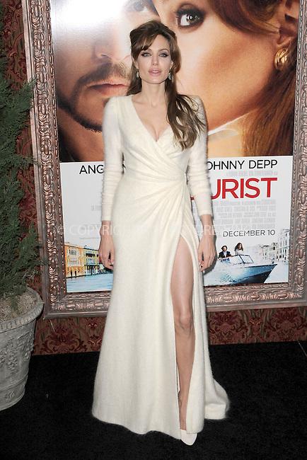 WWW.ACEPIXS.COM . . . . . .December 6, 2010...New York City...Angelina Jolie attends the World premiere of 'The Tourist' at Ziegfeld Theater on December 6, 2010 in New York City.....Please byline: KRISTIN CALLAHAN - ACEPIXS.COM.. . .Ace Pictures, Inc: ..tel: (212) 243 8787 or (646) 769 0430..e-mail: info@acepixs.com..web: http://www.acepixs.com .