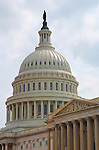 United States Capitol Dome, Senate Portico and Pediment, Capitol Hill, National Mall, Washington DC