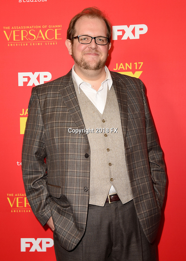 "HOLLYWOOD - JANUARY 8: Dominic Burgess attends the Red Carpet Premiere Event for FX's ""The Assassination of Gianni Versace: American Crime Story"" at ArcLight Hollywood on January 8, 2018, in Hollywood, California. (Photo by Scott Kirkland/FX/PictureGroup)"