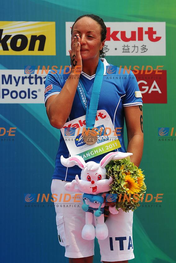 Alice Franco Medaglia di bronzo open water 25 Km.Women's 25Km Open Water .Shanghai 232/7/2011 .14th FINA World Championships.Foto Andrea Staccioli Insidefoto