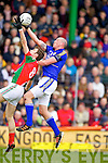 Kieran Donaghy Kerry in action against Jason Gibbons Mayo in the National Football League in Austin Stack Park on Sunday..