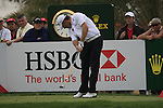 Lee Westwood tees off on the 9th tee during Day 2 Friday of the Abu Dhabi HSBC Golf Championship, 21st January 2011..(Picture Eoin Clarke/www.golffile.ie)