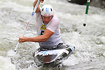 08.08.2015 La Seu d'Urgel, Lleida.ICF Canoe Slalom World Cup 4.  Picture show Benjamin Savsek (SLO) in action during canoe single (C1) men final at Canal Olimpic