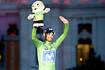 Alejandro Valvede (ESP) Movistar Team wins the Green Jersey at the end of the final Stage 21 of the La Vuelta 2018, running 100.9km for Alcorcon to Madrid, Spain. 16th September 2018.                   <br /> Picture: Unipublic/Photogomezsport | Cyclefile<br /> <br /> <br /> All photos usage must carry mandatory copyright credit (© Cyclefile | Unipublic/Photogomezsport)