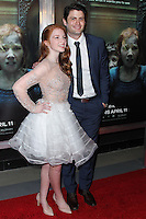 "HOLLYWOOD, LOS ANGELES, CA, USA - APRIL 03: Annalise Basso, James Lafferty at the Los Angeles Screening Of Relativity Media's ""Oculus"" held at TCL Chinese 6 Theatre on April 3, 2014 in Hollywood, Los Angeles, California, United States. (Photo by Xavier Collin/Celebrity Monitor)"