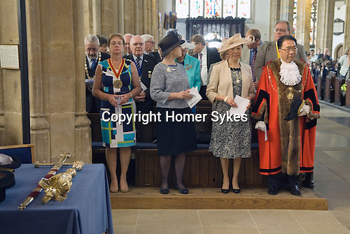 Jankyn Smyth Cake and Ale ceremony at the Guildhall Bury St Edmunds Suffolk 2015. St Marys Church.