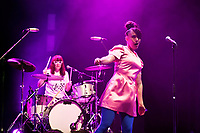 LONDON, ENGLAND - JUNE 10: Tobi Vail and Kathleen Hanna of 'Bikini Kill' performing at Brixton Academy on June 10, 2019 in Brixton, England.<br /> CAP/MAR<br /> ©MAR/Capital Pictures