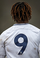 Shirt of Kazaiah Sterling of Spurs U19 during the UEFA Youth League round of 16 match between Tottenham Hotspur U19 and Monaco at Lamex Stadium, Stevenage, England on 21 February 2018. Photo by Andy Rowland.