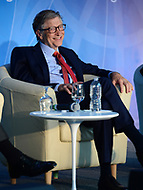"Washington, DC - April 21, 2018: Microsoft founder Bill Gates participates in a panel discussion on ""Building Human Capital"" at the World Bank Group in Washington, DC April 21, 2018, as part of the IMF/World bank Spring Meetings.  (Photo by Don Baxter/Media Images International)"