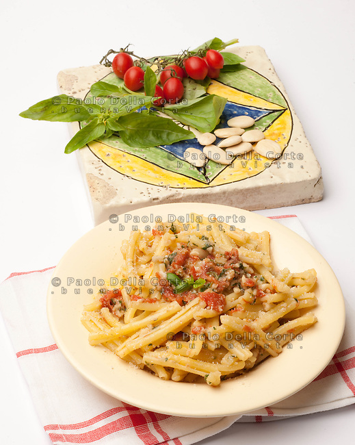 Casarecce with sicilian pesto