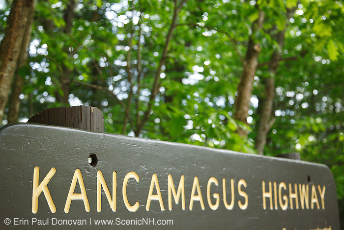 Kancamagus Highway (route 112), which is one of New England's scenic byways in the White Mountains, New Hampshire USA