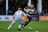 Rob Webber of Bath Rugby in possession. Aviva Premiership match, between Bath Rugby and Northampton Saints on December 5, 2015 at the Recreation Ground in Bath, England. Photo by: Patrick Khachfe / Onside Images