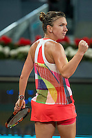 Romanian Simona Halep during WTA Final Mutua Madrid Open Tennis 2016 in Madrid, May 07, 2016. (ALTERPHOTOS/BorjaB.Hojas) /NortePhoto.com