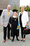 Free usage Repro Free<br /> 23/10/2015  Pictured at the recent Mary Immaculate College conferring ceremonies were Jane Slattery, Neenagh, Co. Tipperary, who graduated with a Certificate in General Learning and Personal Development, with parents Micheal and Mary Slattery. 625 students from 20 counties and 3 continents were conferred with academic awards across the College&rsquo;s 27 programmes including the College&rsquo;s 100th PhD award.<br /> Pic: Gareth Williams / Press 22<br /> <br /> <br /> Press Release: 23rd October 2015Education is a movement of formation that enables the individual to play their role in transforming society for the common good.100th PhD Graduate Conferred at Mary Immaculate CollegeEducation is a movement of formation that enables the individual to play their role in transforming society for the common good according to Prof. Michael A Hayes, President of Mary Immaculate College, who was speaking at the College&rsquo;s conferring ceremonies today Friday 23rd October. The quality of advanced scholarship at Mary Immaculate College was evident on the day as the 100th PhD graduate was conferred along with close on 650 students from 20 counties and 3 continents all of whom graduated with academic awards across the College&rsquo;s 27 programmes. Congratulating all those graduating the President said &ldquo;These ceremonies mark the high point of the College&rsquo;s year as we acknowledge the achievement of our students. The ceremonies this year are particularly special as we mark the conferring of our 100th PhD Graduate &ndash; this is a very proud achievement for us as a College and I want to congratulate those who have received these doctorates and my colleagues who supervised their work&rdquo;. Not only were students conferred with awards on undergraduate, diploma, graduate diploma and master programmes but this year marked the first graduation of students from the Certificate in General Learning &amp; Personal Development, a programme  for people with intellectual disabilities.&ldquo;Working with students with i
