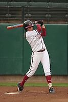 29 October 2007: Melisa Koutz during practice at the Boyd and Jill Smith Stadium in Stanford, CA.