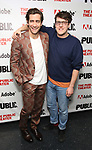 """Jake Gyllenhaal and Nick Payne attends the """"Sea Wall / A Life"""" opening night at The Public Theater on February 14, 2019, in New York City."""
