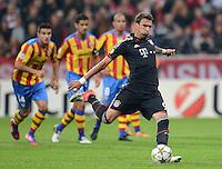FUSSBALL   CHAMPIONS LEAGUE   SAISON 2012/2013   GRUPPENPHASE   FC Bayern Muenchen - FC Valencia                            19.09.2012 Mario Mandzukic (FC Bayern Muenchen) verschiesst einen Elfmeter