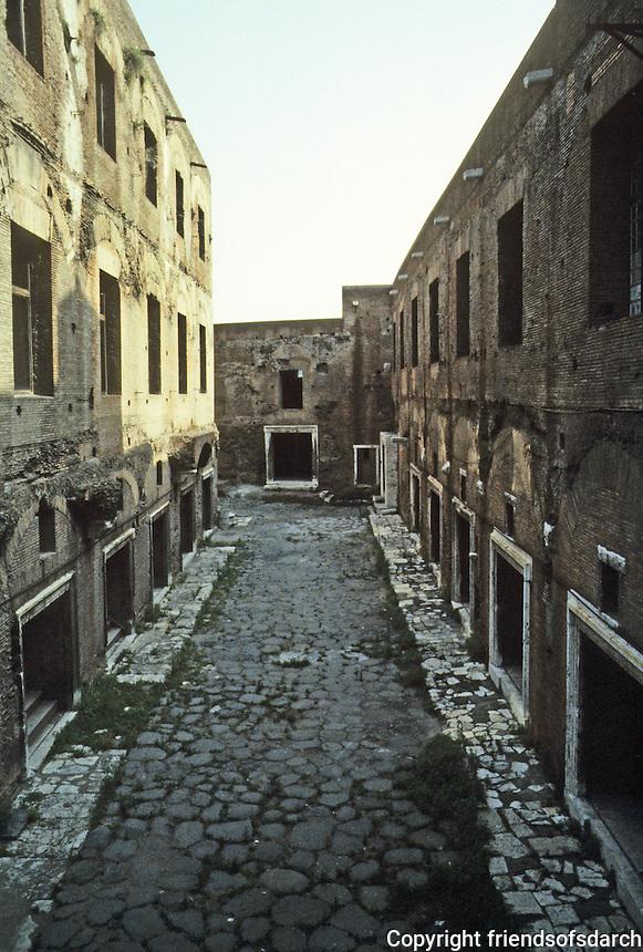 Italy: Rome--Trajan's Market as seen from entrance on Via 4 Novembre. Photo '82.