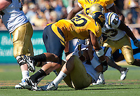 Mychal Kendricks sacks Kevin Prince. The California Golden Bears defeated the UCLA Bruins 35-7 at Memorial Stadium in Berkeley, California on October 9th, 2010.