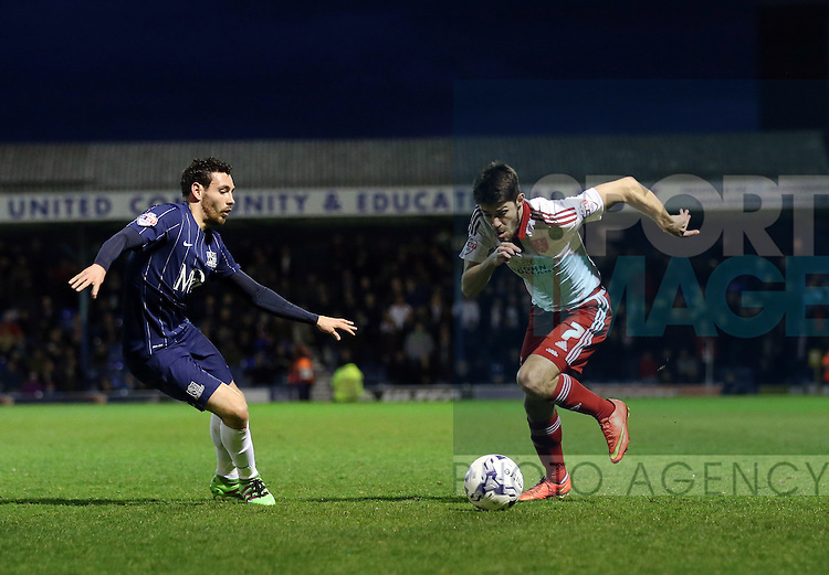 Sheffield United's Ryan Flynn in action during the League One match at Roots Hall Stadium.  Photo credit should read: David Klein/Sportimage