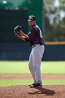 Colorado Rockies pitcher Justin Lawrence (65) during an instructional league game against the San Francisco Giants on October 7, 2015 at the Giants Baseball Complex in Scottsdale, Arizona.  (Mike Janes/Four Seam Images)