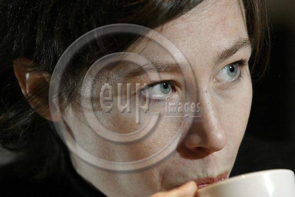 BRUSSELS - BELGIUM - 06 JANUARY 2004-- Freya van den BOSSCHE, the Belgian Minister of Environment during an interview in her office.-- PHOTO: JUHA ROININEN / EUP-IMAGES