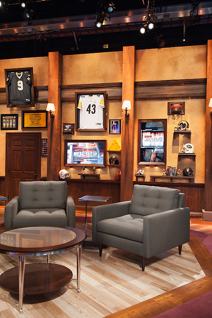 September  08, 2011 - Bristol, CT - Studio E:  New NFL 32 Set..Credit: Joe Faraoni/ESPN