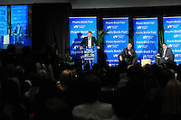 MIAMI, FL - NOVEMBER 13: Mitchell Kaplan, Trevor Noah in conversation with Bob Weisberg about Noah book 'Born a Crime' during 33rd Annual Miami Book Fair at Miami Dade College on November 13, 2016 in Miami, Florida.  Credit: MPI10 / MediaPunch