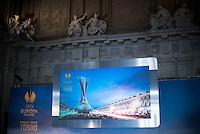La cerimonia di consegna del Trofeo dell'Europa League a Palazzo Madama di Torino  Europa League Trophy Handover   Torino 16/04/2014   Football Calcio   Foto Giorgio Perottino / Insidefoto