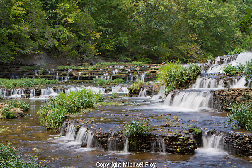 The Falling Water River drops 20' over Burgess Falls cascades.
