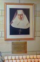 A portrait of St. Katharine Drexel hangs above the tomb at the National Shrine of St. Katharine Drexel Thursday, December 28, 2017 in Bensalem, Pennsylvania. Drexel was an American heiress who dedicating herself to work among the American Indians and African-Americans in the western and southwestern United States. She was canonized a saint by the Roman Catholic Church in 2000. (Photo by William Thomas Cain/Cain Images)