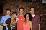 Nick Lewis, As The World Turns' Lauren B. Martin (Guiding Light, Another World, All My Children), Josh Davis, Lise Fisher, Kevin DeBacker at Empire The Series cast & crew get together to see the newest episode on August 28, 2012 at Smithfields in Chelsea, New York City, New York.  (Photo by Sue Coflin/Max Photos)