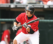 2007:  Shin-Soo Choo of the Buffalo Bisons awaits the pitch on a bunt attempt while at bat vs. the Columbus Clippers in International League baseball action.  Photo copyright Mike Janes Photography 2007.