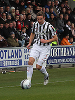 Paul Dummett in the St Mirren v Dundee United Clydesdale Bank Scottish Premier League match played at St Mirren Park, Paisley on 27.10.12.